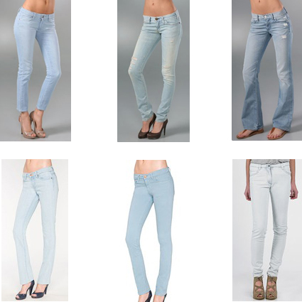 D~LuxeList: Weekly LuxeList | Ultra-light Denim Washes :  current elliot spring 09 ultra-light denim denim trends
