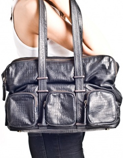 D~LuxeList: Dunlin Medium Croc Embossed Bag